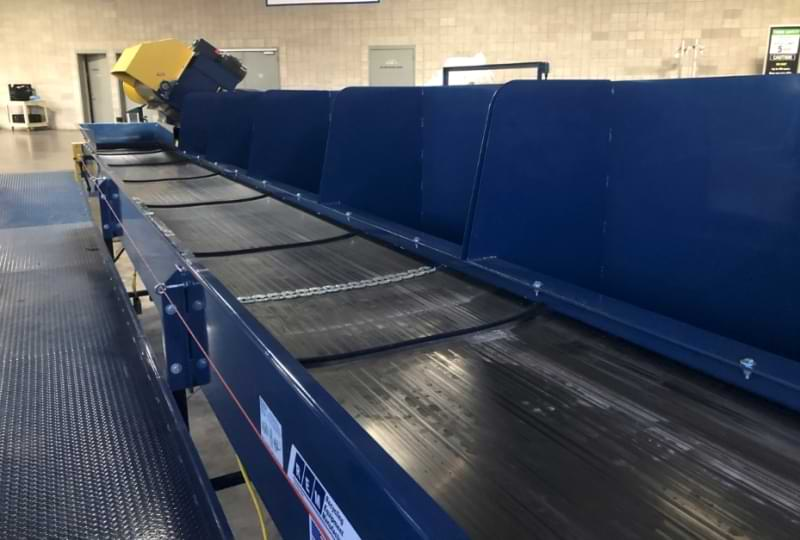 The Convention Center's new industrial sorter