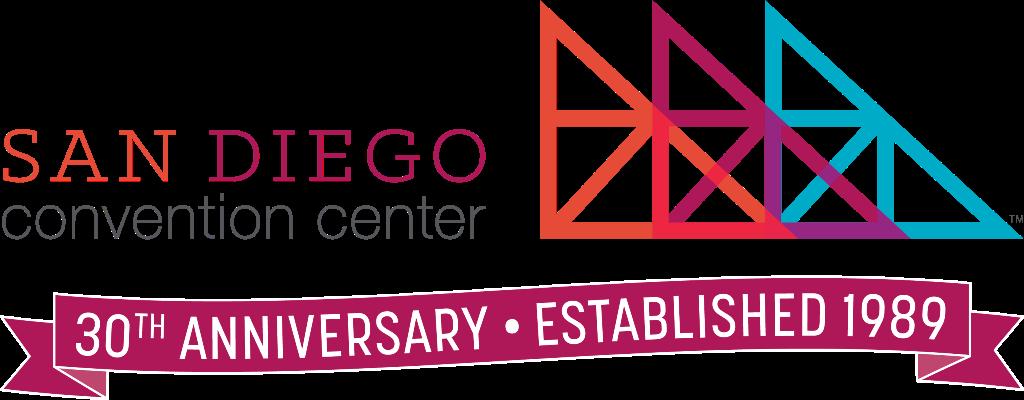 San Diego Convention Center 30th Anniversary logo