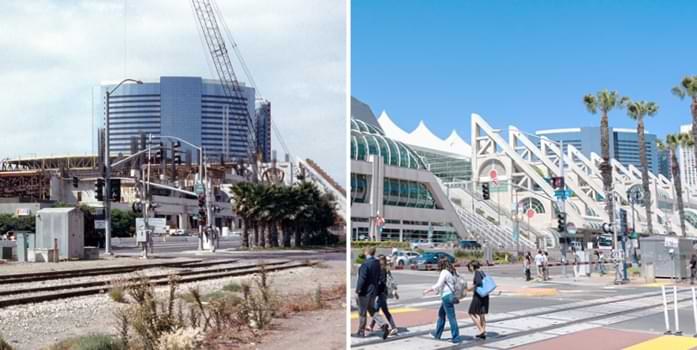 Then and now pictures of San Diego Convention Center