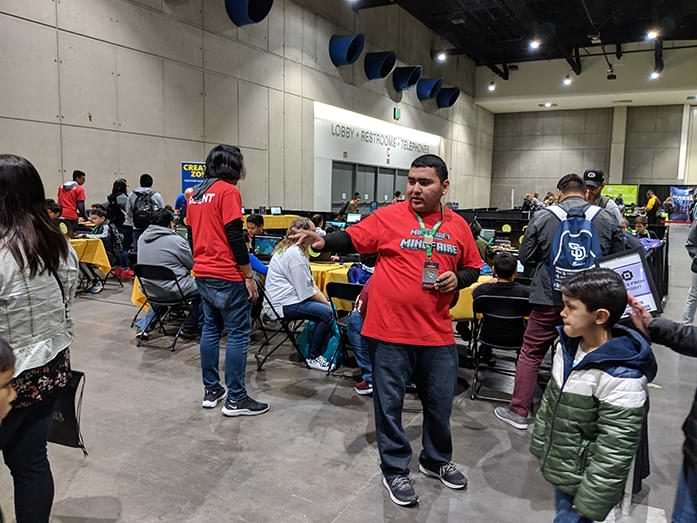 Local students work as volunteers at Minefaire
