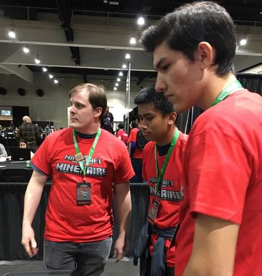 Local students are trained as Minefaire Agent volunteers.