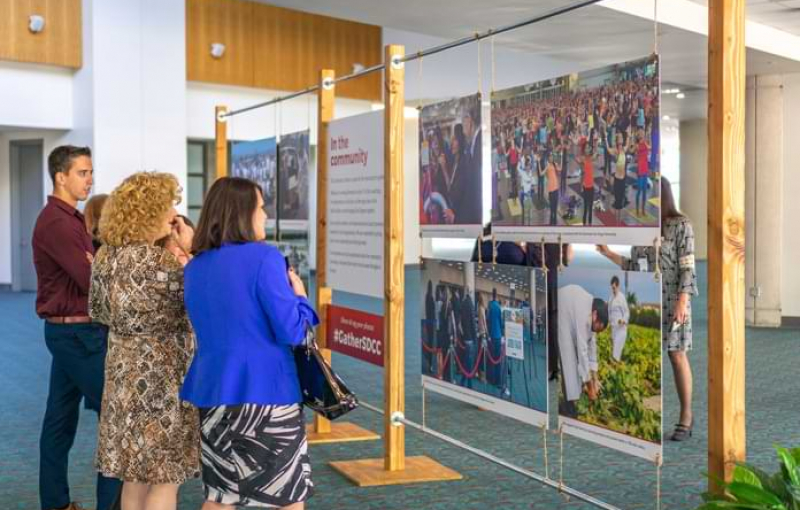 Convention Center Unveils Art Exhibit and Honors Team at 30th Anniversary Celebration