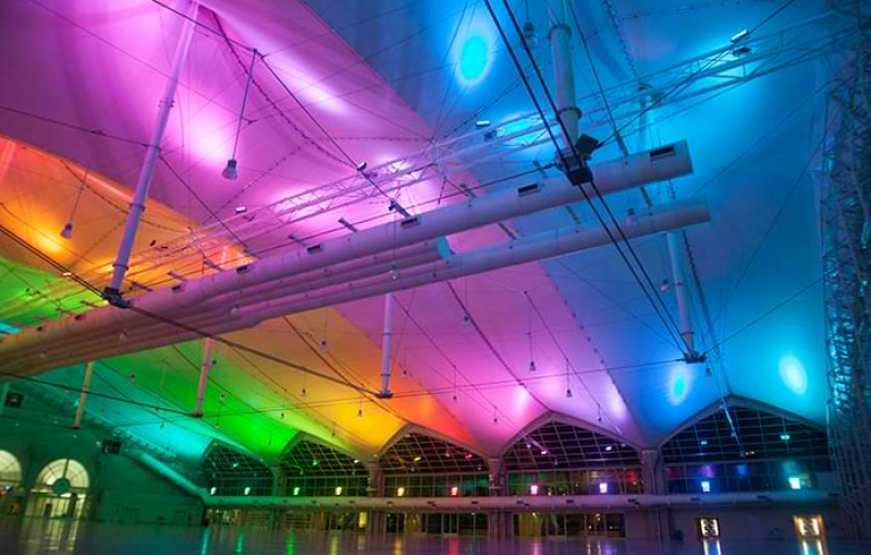 Convention Center Sails Pavilion Lights Illuminates Events in First Year