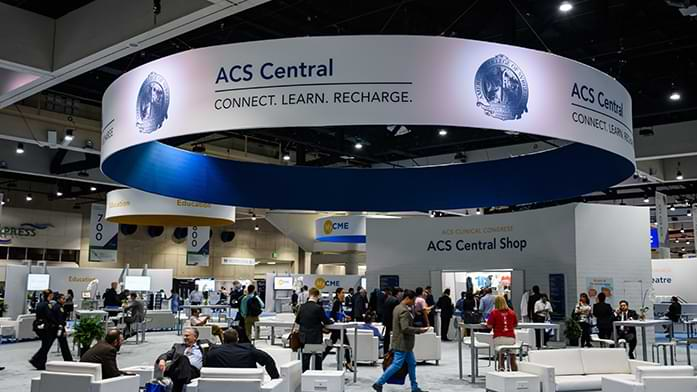 ACS Central set up on hall with attendees